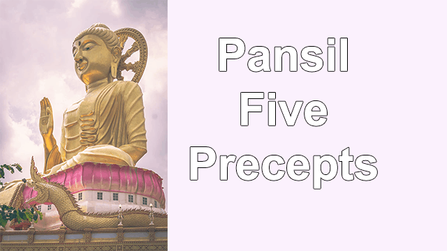 Pansil Five Precepts Buddhism Lessons in English